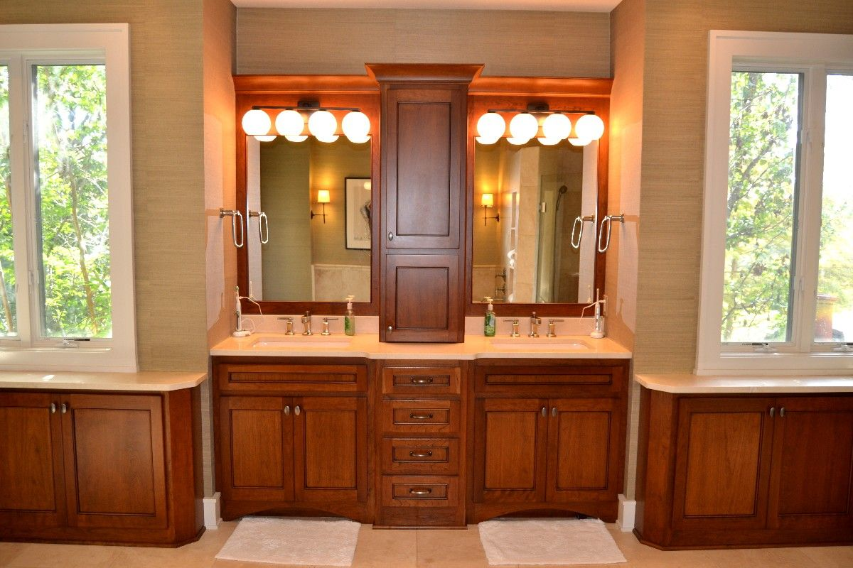 Custom designed bathrooms and bath remodels for Custom bathroom vanity designs