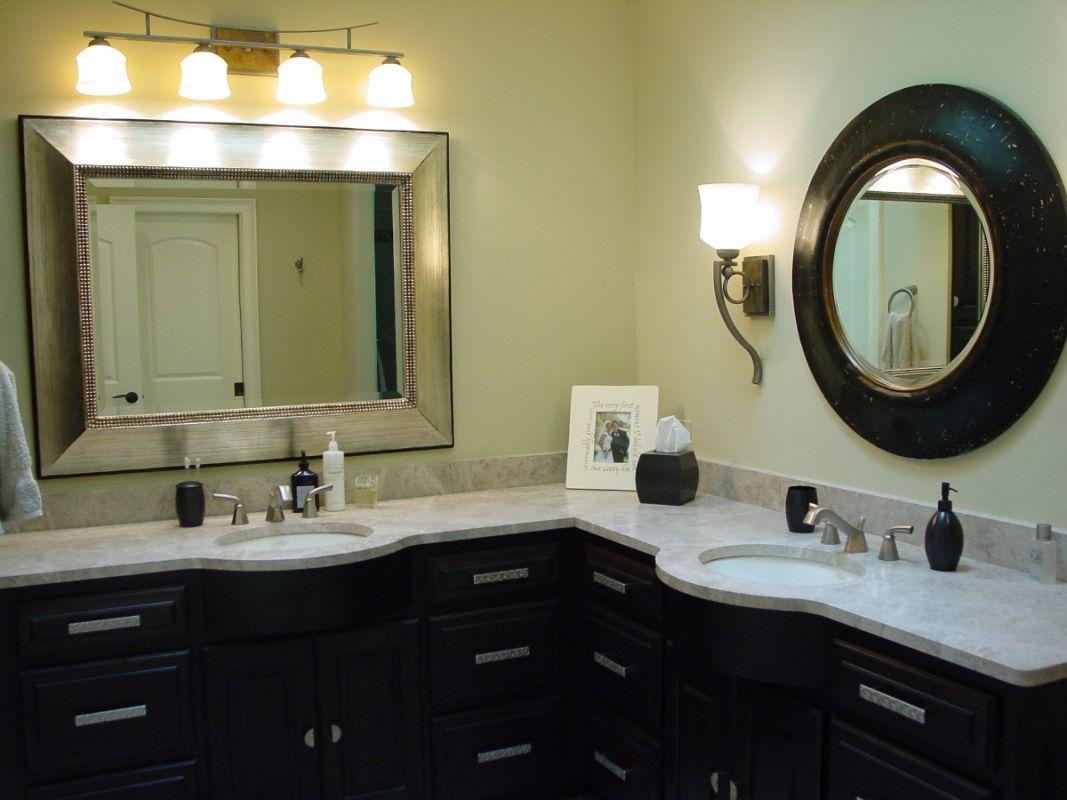 Corner Double Sink Bathroom Remodel
