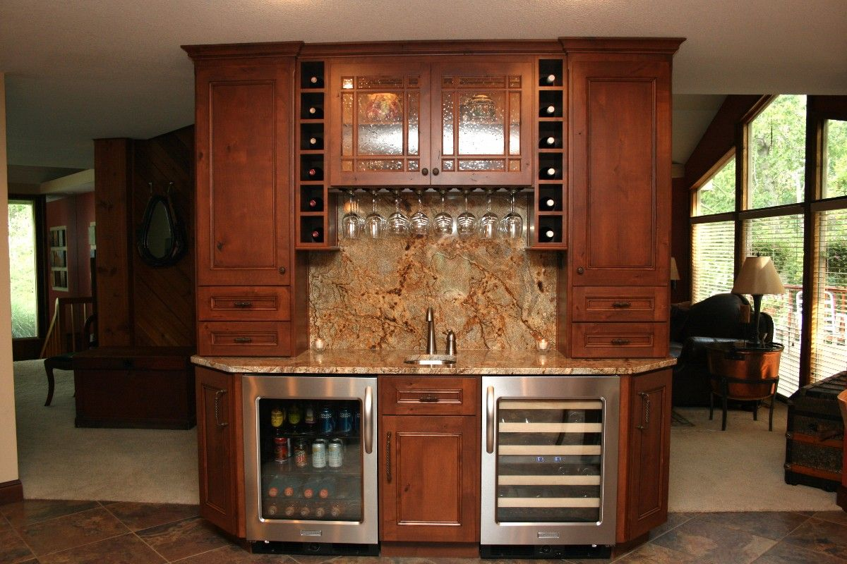 Custom designed rooms for your remodel project - Bar in living room designs ...