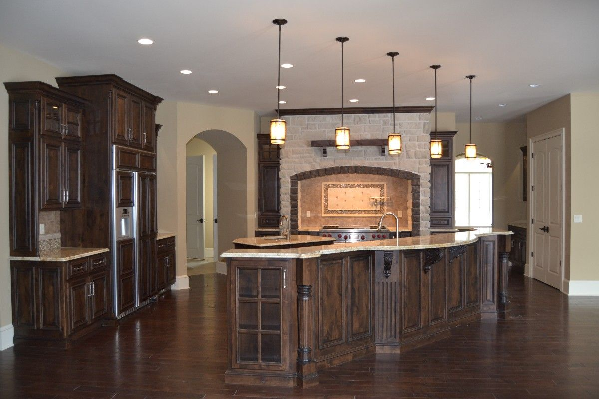 Center Island Kitchen Custom Designed Kitchens Portfolio Cabinets And Counters