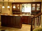 Wet Bar with Glass Storage Cabinets