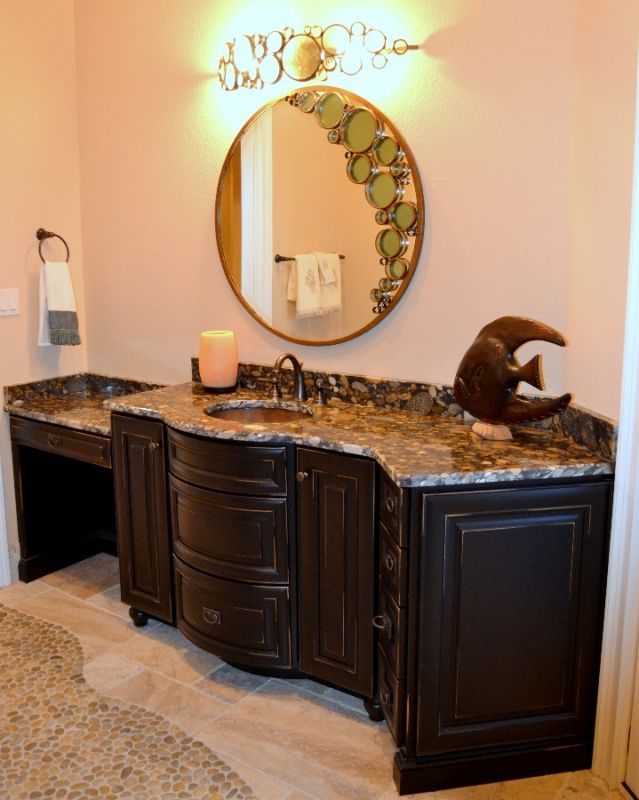 Curved Bathroom Counter Remodel