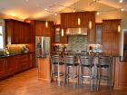 Kitchen Design with Warm Colored Cabinets