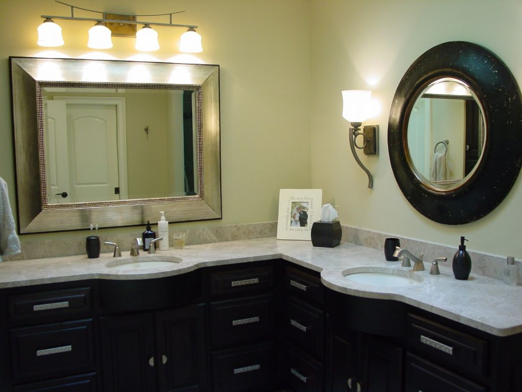 Custom Bathroom Double Vanities custom designed bathrooms and bath remodels