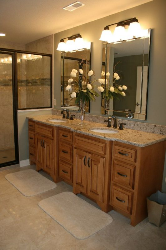 Sinks Bath Vanity with Lots of Cabinet Space  Custom Designed Bathrooms and Bath Remodels. Large Double Sink Bathroom Vanity. Home Design Ideas