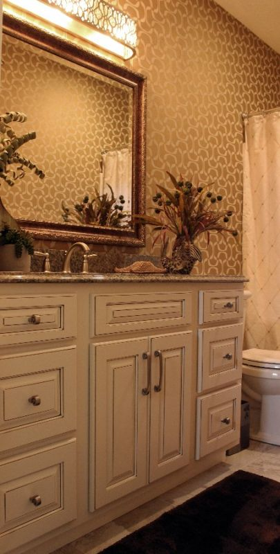 Elegant Bathroom Vanity And Cabinets